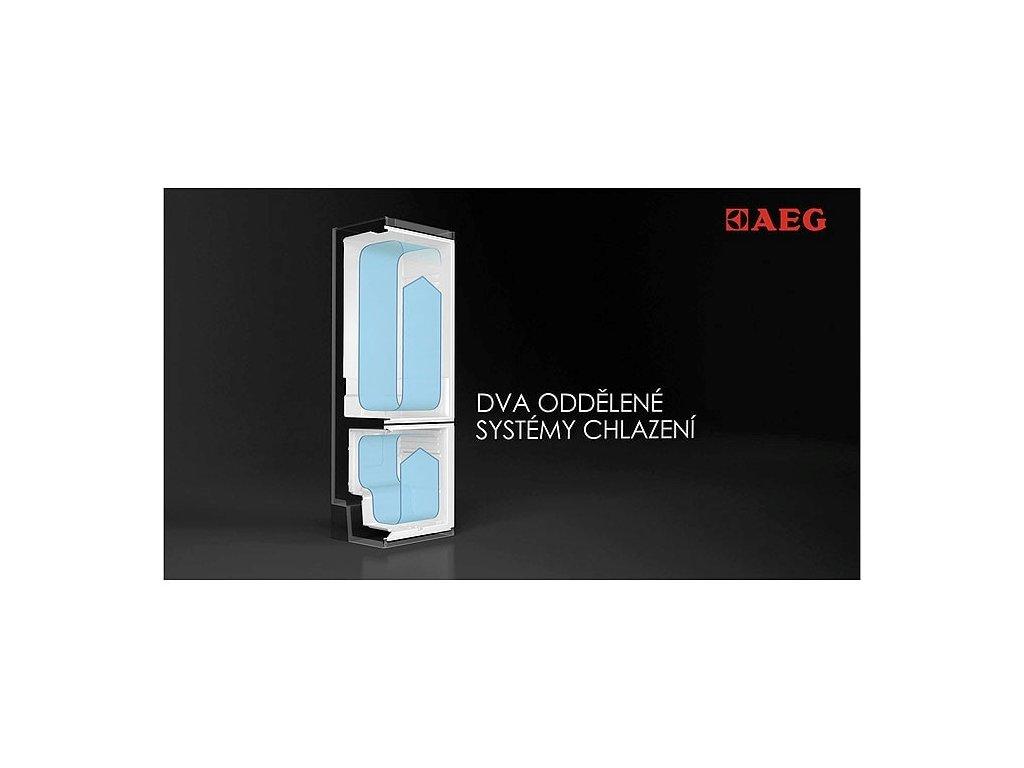 AEG, Volně stojící kombinovaná chladnička RCB83724MX