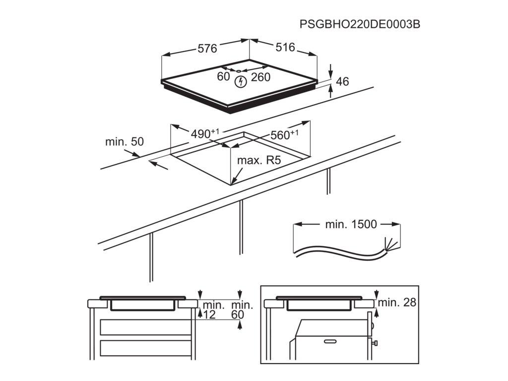AEG, Indukční varná deska IKB64431XB